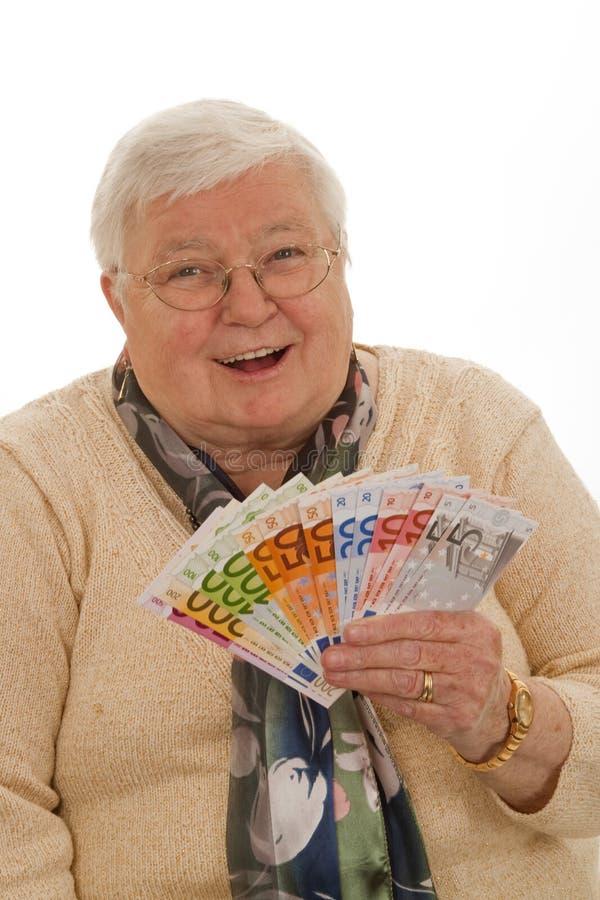 Free Grandma With Euros Stock Photos - 18442303