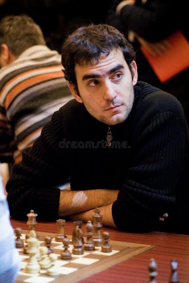 Grandmaster cubano da xadrez, Lenier Domínguez Pérez 3 imagens de stock royalty free