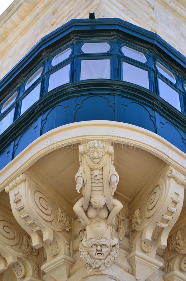 The Grandmaster's Palace in Valletta - Malta royalty free stock images
