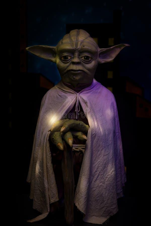 Grandmasteren Yoda i waxworksmuseet i Foz gör Iguazu/Brasilien royaltyfria foton