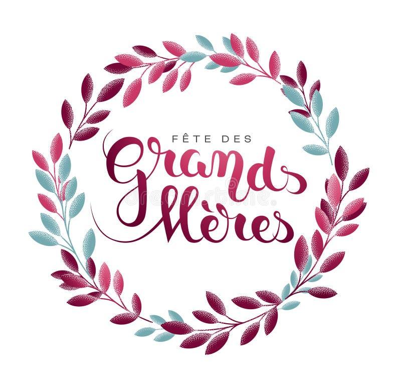 Grandmother's dzień w Francuskim: Fête des grands ilustracja wektor