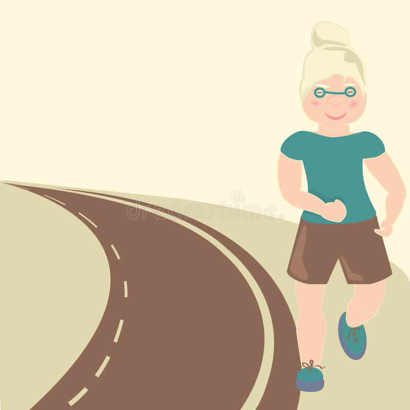 Download Grandmother stock vector. Image of marathon, exhaustion - 18510239
