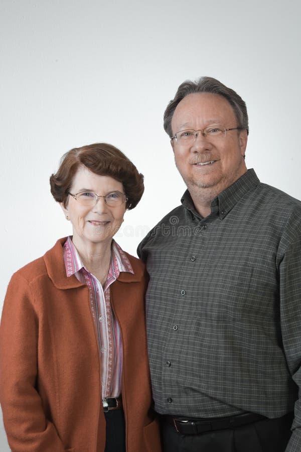 Grandmother & Adult Son Stock Photos