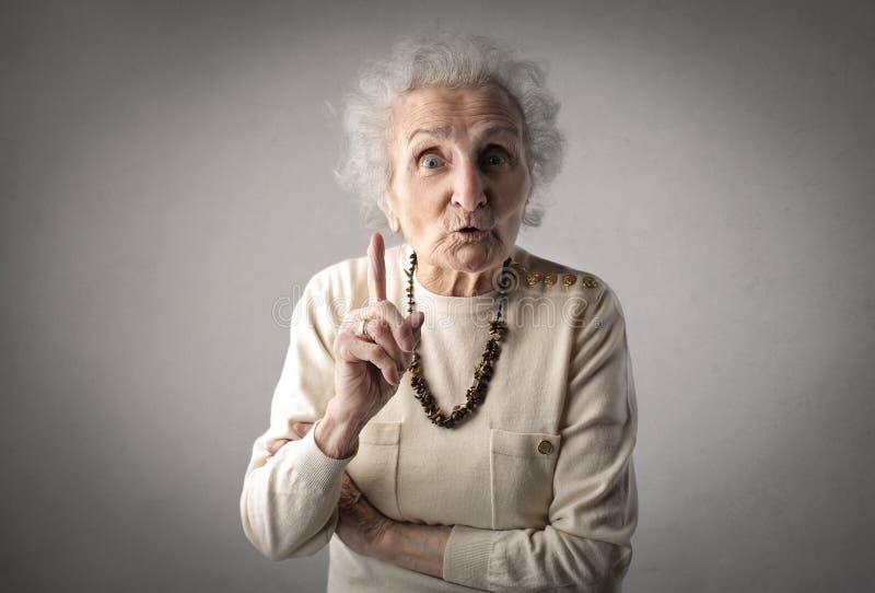 Grandmother advice stock photos