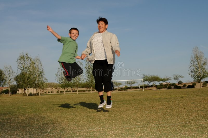 Grandmother With Boy royalty free stock images