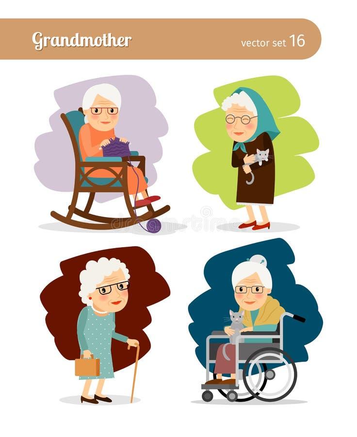 Grandmother Cartoon Character Stock Vector Image 61066084