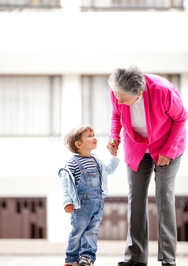 Download Grandmother and children stock image. Image of lady, elderly - 22792057