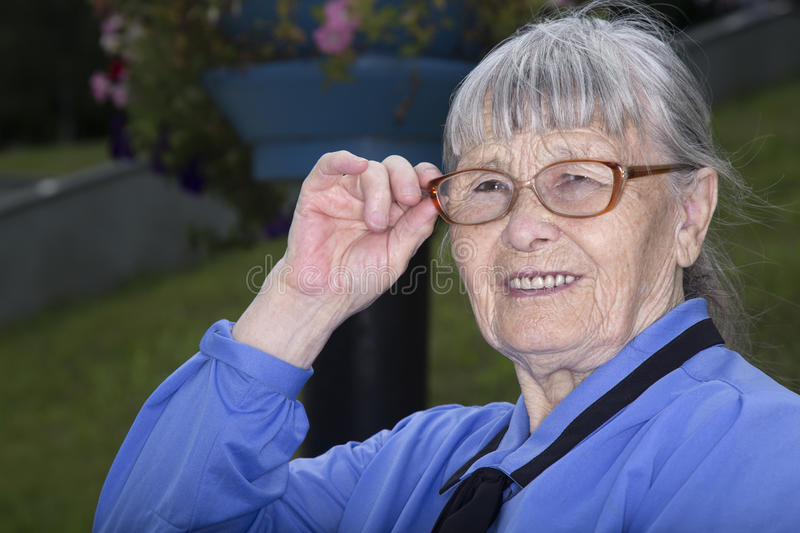 Download Grandmother stock image. Image of adult, outdoor, glasses - 33054283