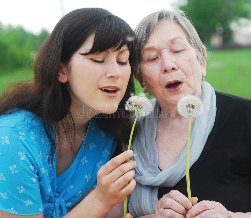 Download Grandmother And Grand Daughter Stock Image - Image: 14453883