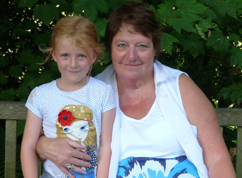 Grandmother and Grand Daughter royalty free stock photos
