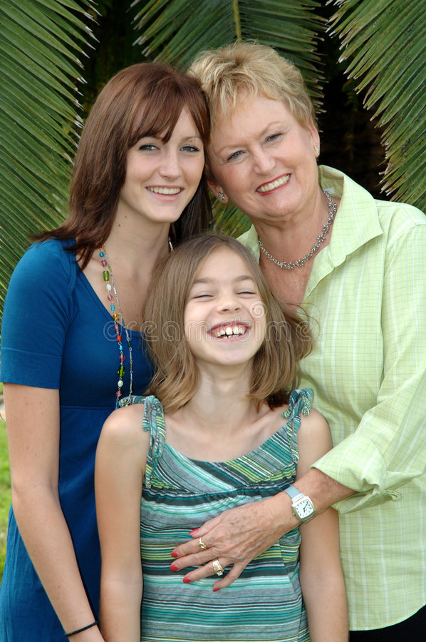 Grandmother And Grandaughters Royalty Free Stock Images