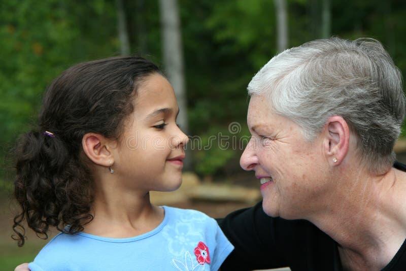 Grandmother with Grandchild stock image