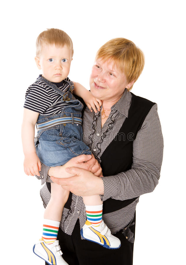 Download Grandmother and grandchild stock photo. Image of adult - 18222842