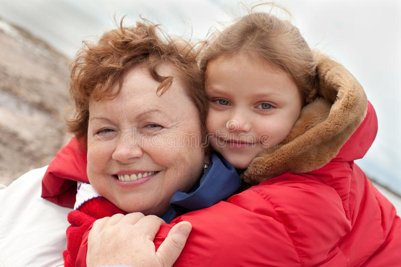 Download Grandmother and grandchild stock photo. Image of winter - 26202308