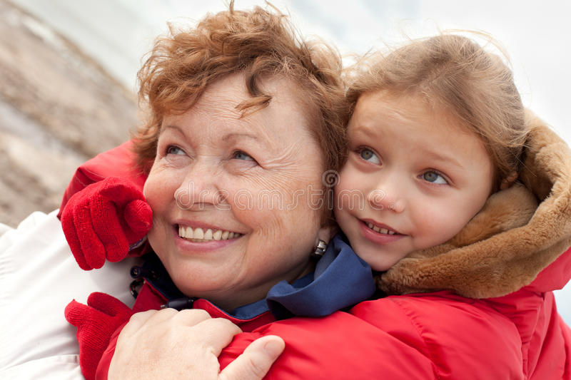 Download Grandmother and grandchild stock photo. Image of outdoor - 26202312
