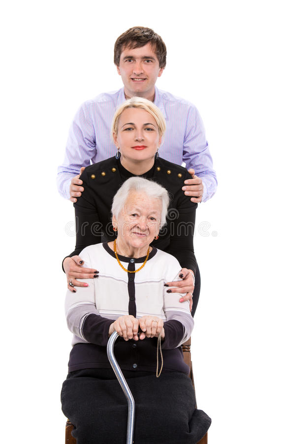 Grandmother With Grandchildren Stock Image