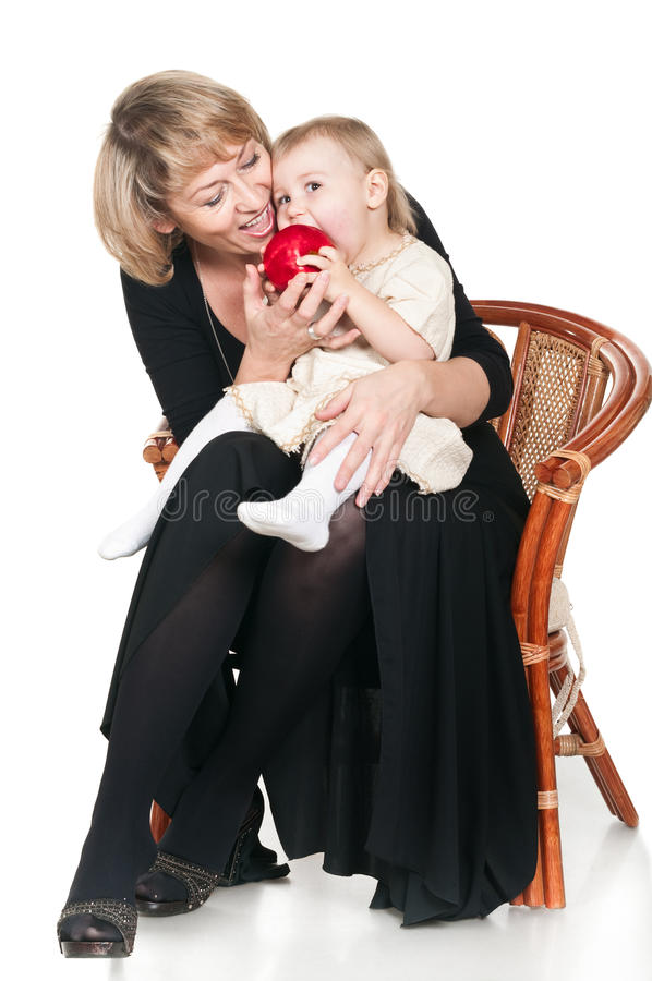 Grandmother And Granddaughte Royalty Free Stock Photography