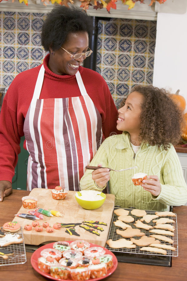 Download Grandmother And Granddaughter At Halloween Royalty Free Stock Photography - Image: 5942397