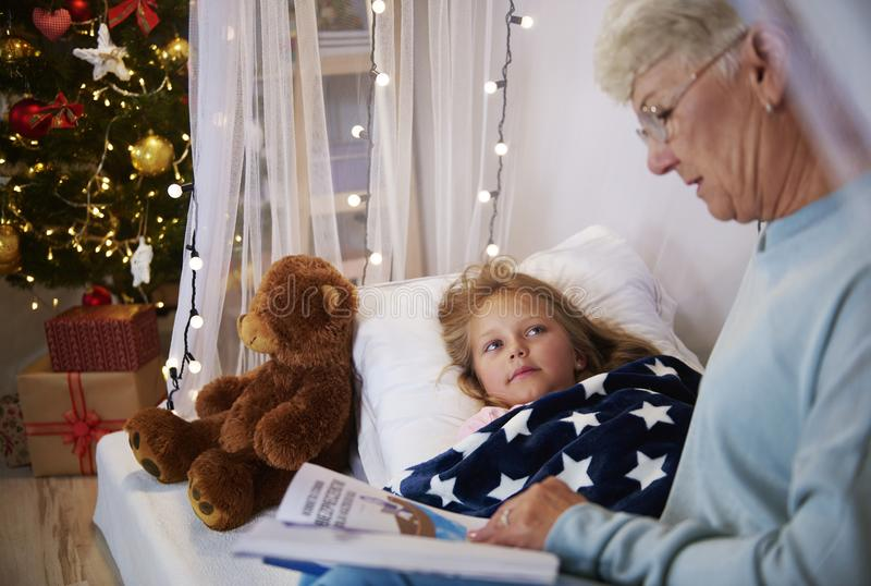 Grandmother with granddaughter royalty free stock image