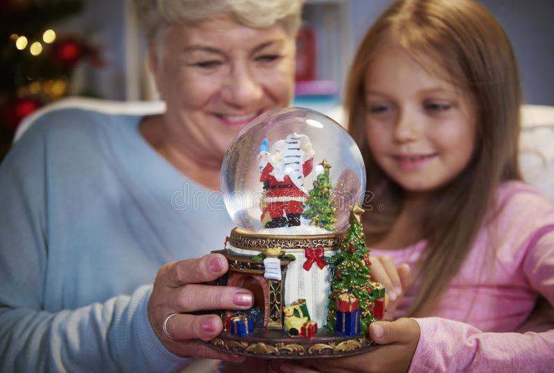 Grandmother with granddaughter stock photography