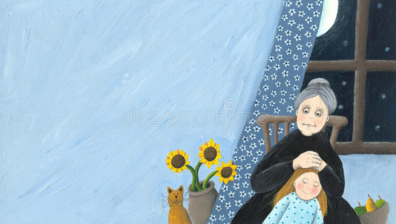 Download Grandmother And Granddaughterat Home Stock Photos - Image: 21686143