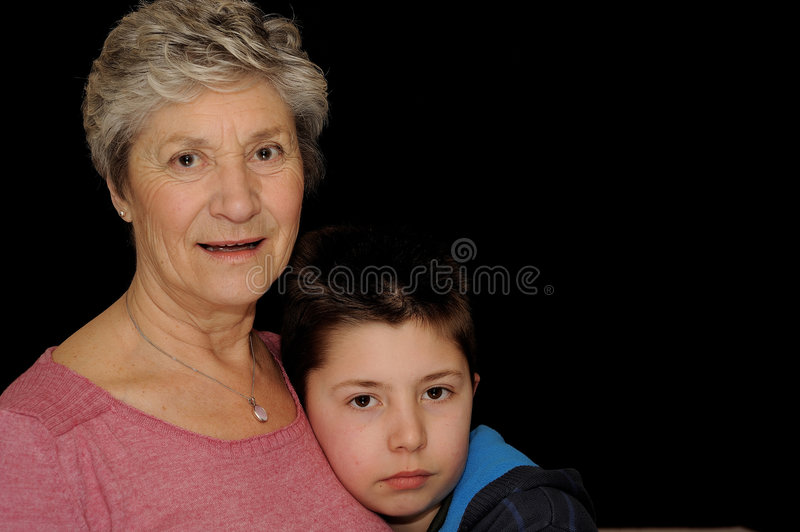 Download Grandmother and Grandson stock photo. Image of gray, grey - 4693774