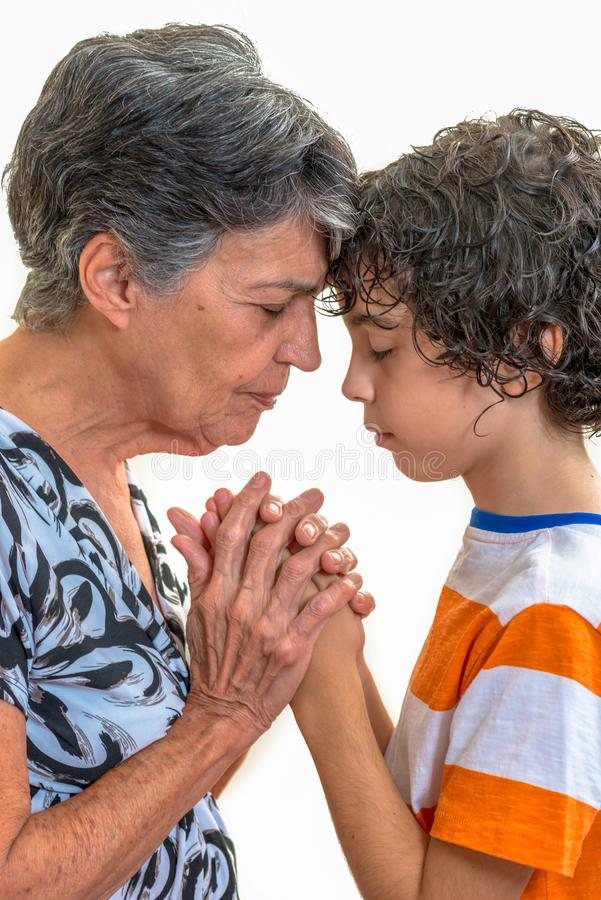 Family Praying or Daily Devotional to God royalty free stock photos