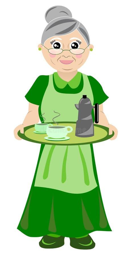 Download Grandmother in green stock vector. Illustration of grandparent - 21946705