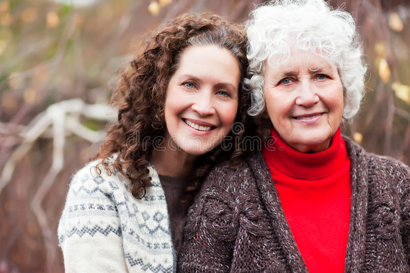 Download Grandmother With Her Daughter Stock Photo - Image: 17432746