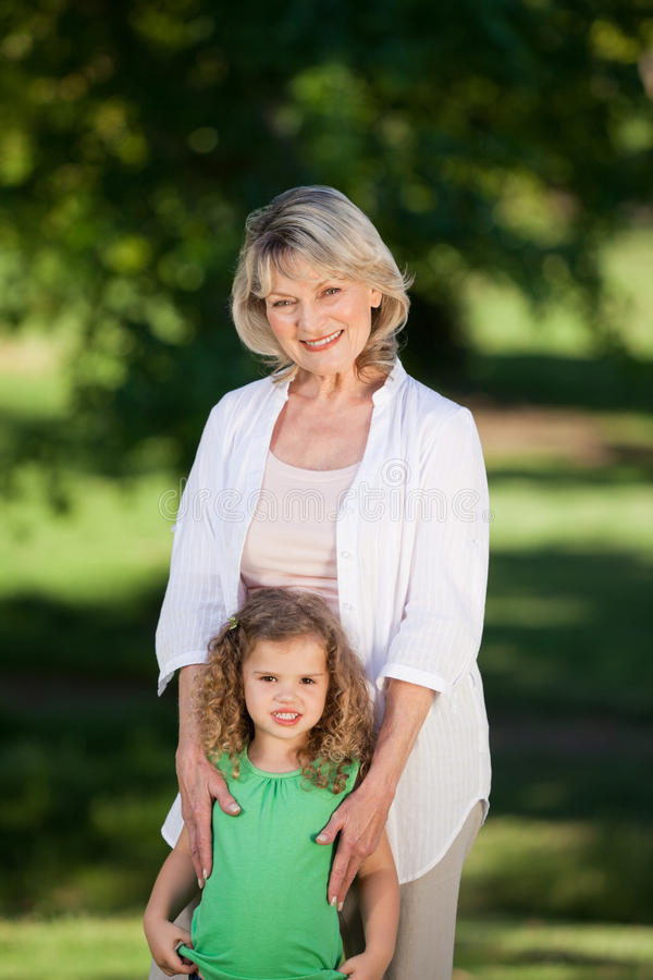 Download Grandmother And Her Granddaughter Stock Image - Image of life, smiling: 18466643