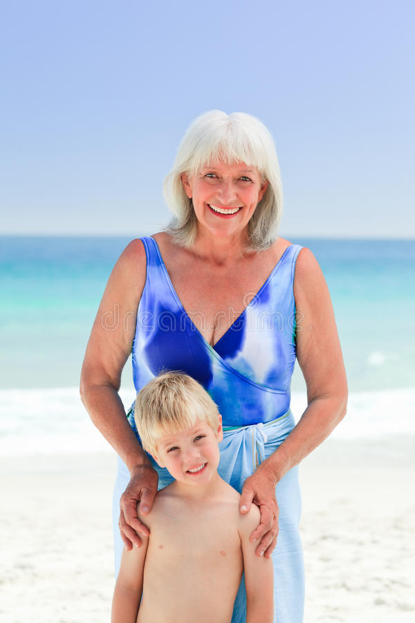 Download Grandmother With Her Grandson Royalty Free Stock Photos - Image: 18494808