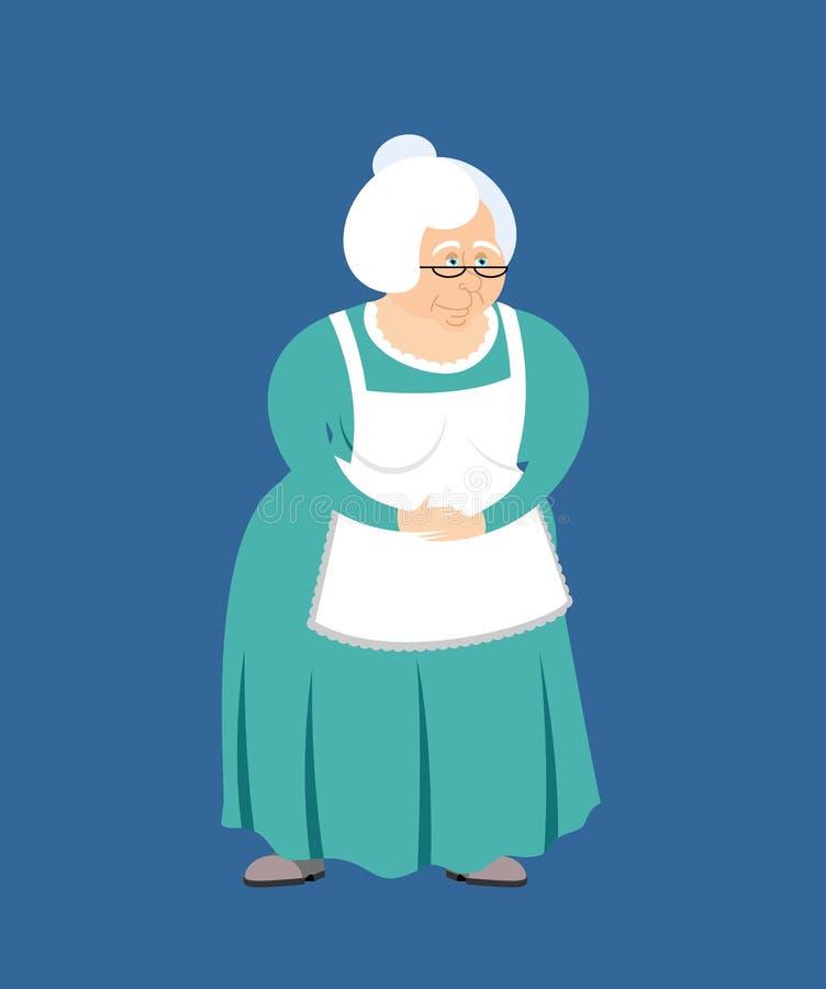 Grandmother isolated. Elderly woman. Pensioner granny vector illustration stock illustration