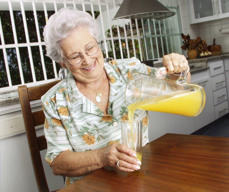 Grandmother Kitchen. Stock Photo