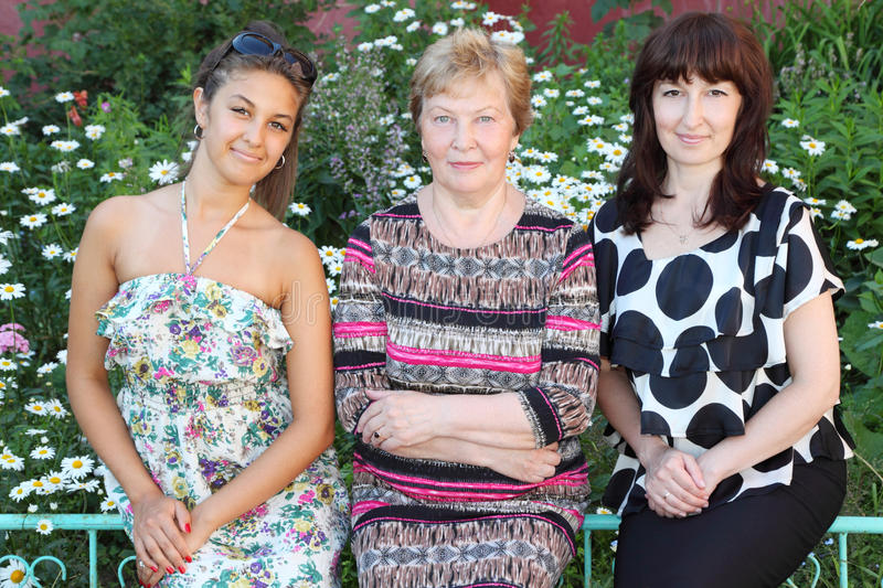 Download Grandmother, Mother, Daughter Seat Stock Image - Image: 27108215