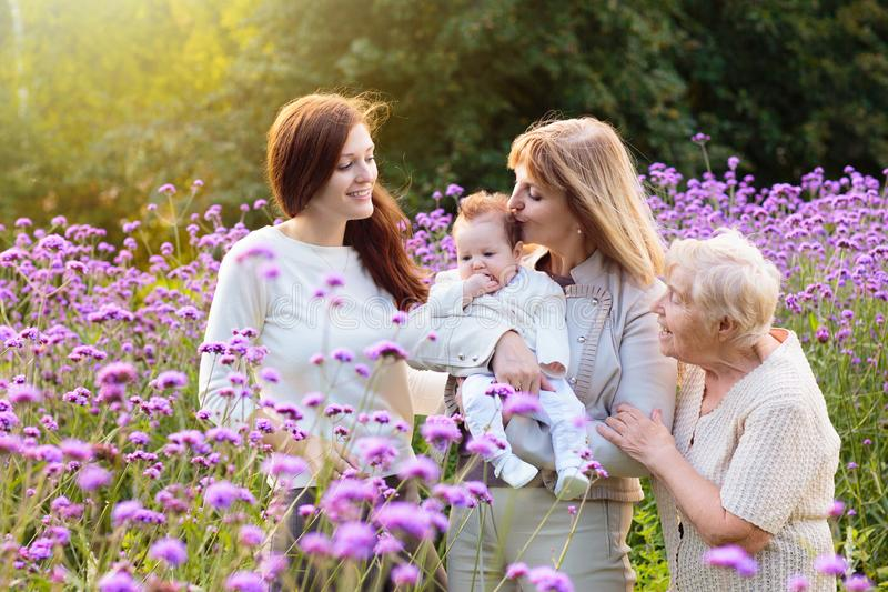Grandmother, mother and kids. Family generations royalty free stock photos