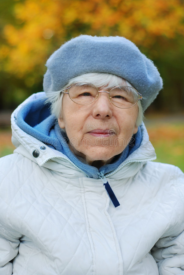 Grandmother portrait royalty free stock photography