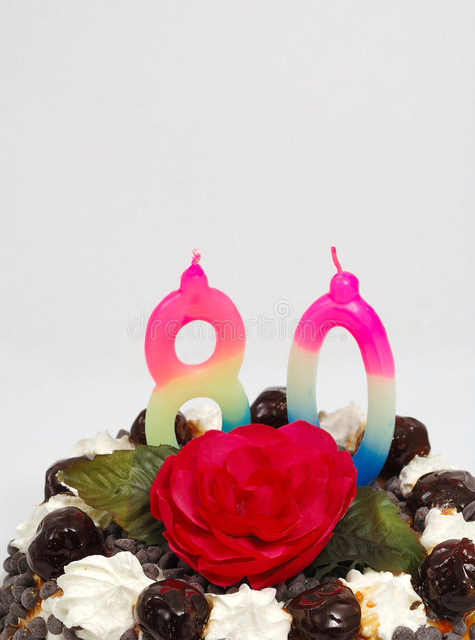 Grandmother's birthday cake royalty free stock photo