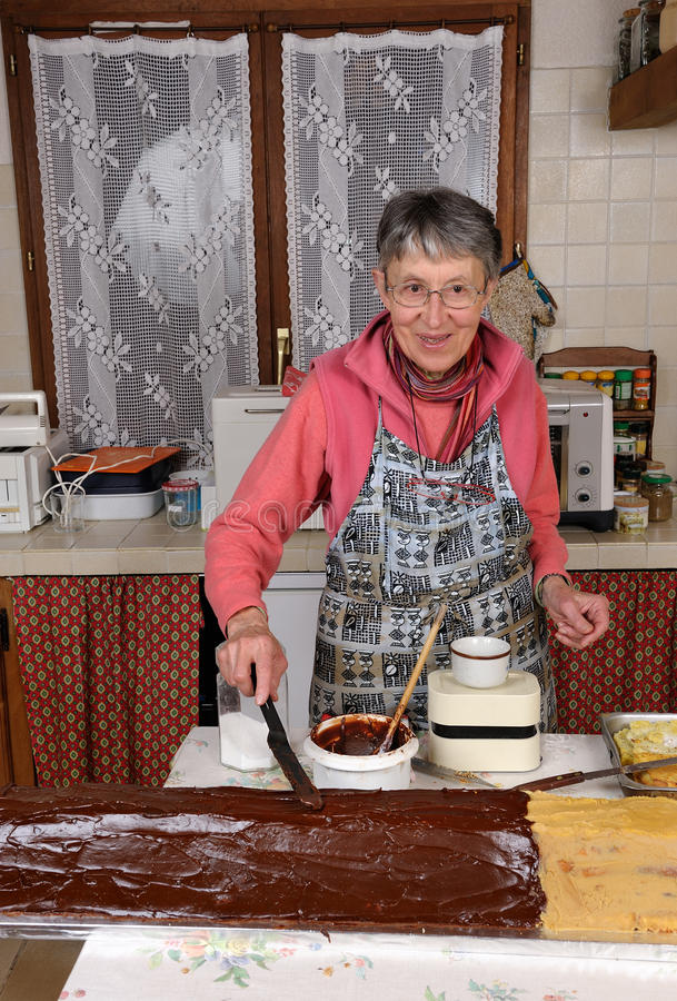 Download Grandmother two stock image. Image of cook, making, aged - 23157371