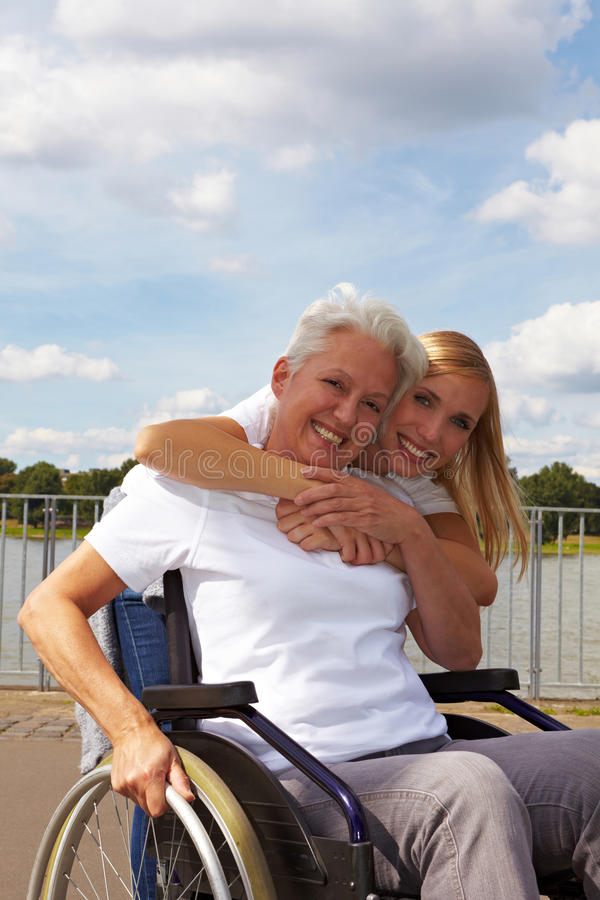 Download Grandmother in wheelchair stock image. Image of citizen - 17019453