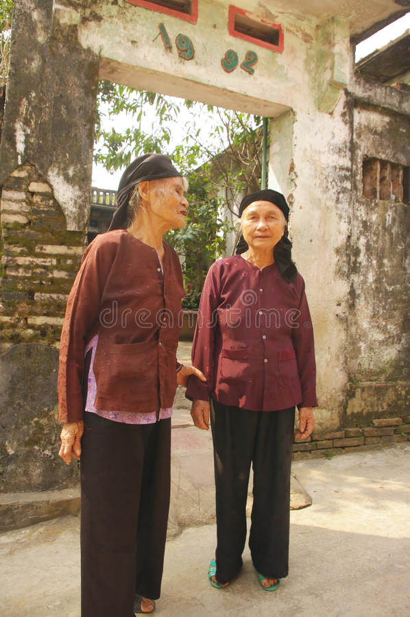 Grandmothers ethnic Kinh (Viet) royalty free stock image