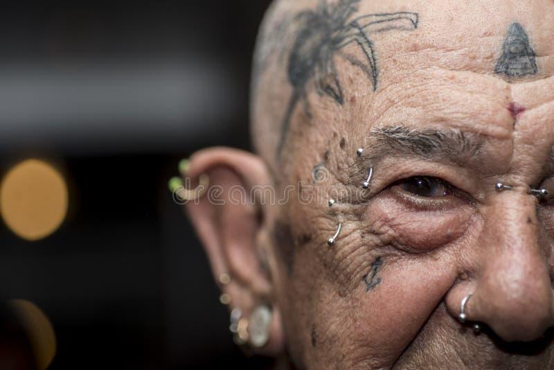Grandpa татуировки стоковое фото