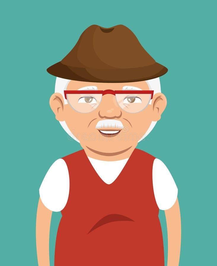 Grandpa avatar character icon. Illustration design vector illustration
