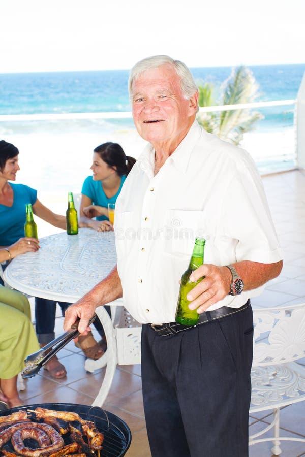 Download Grandpa barbeque stock photo. Image of grill, grandfather - 23479056