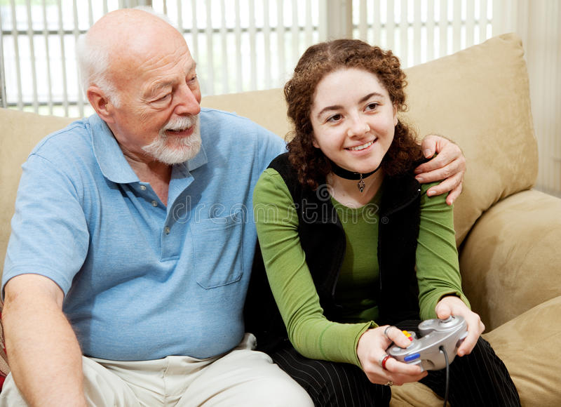 Grandpa Bonds with Teen