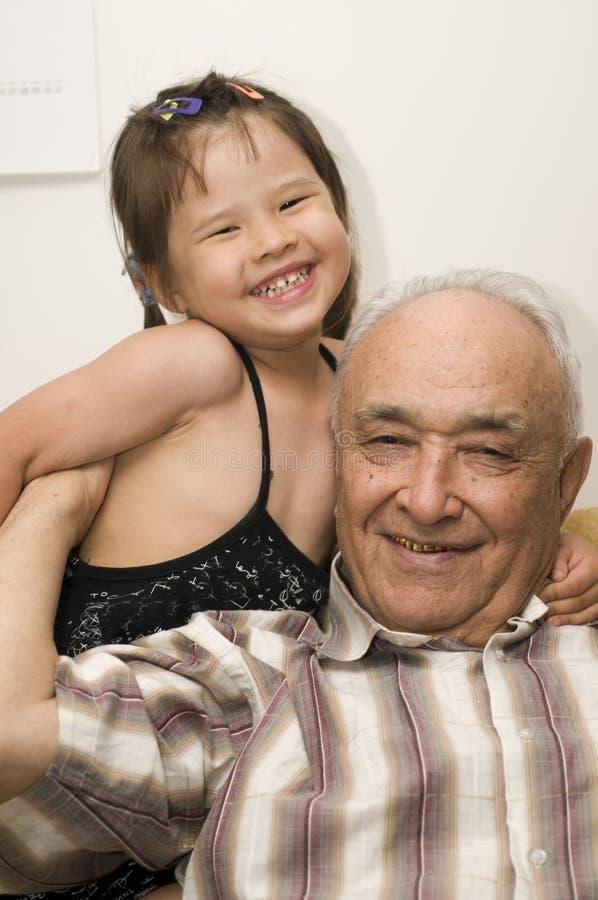 Grandpa e neta fotografia de stock