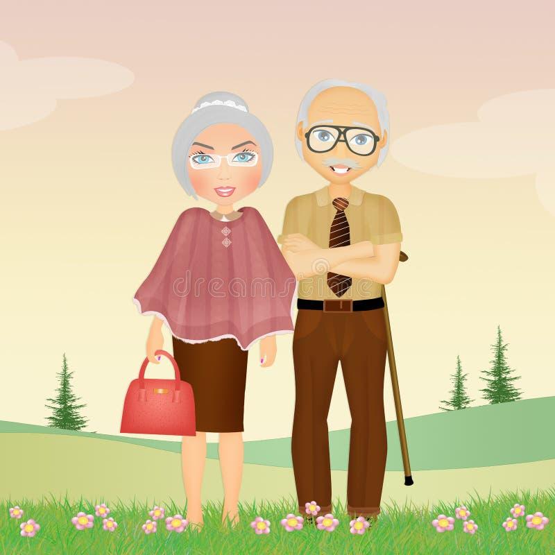 Бабушка дедушка и внуки смешные картинки