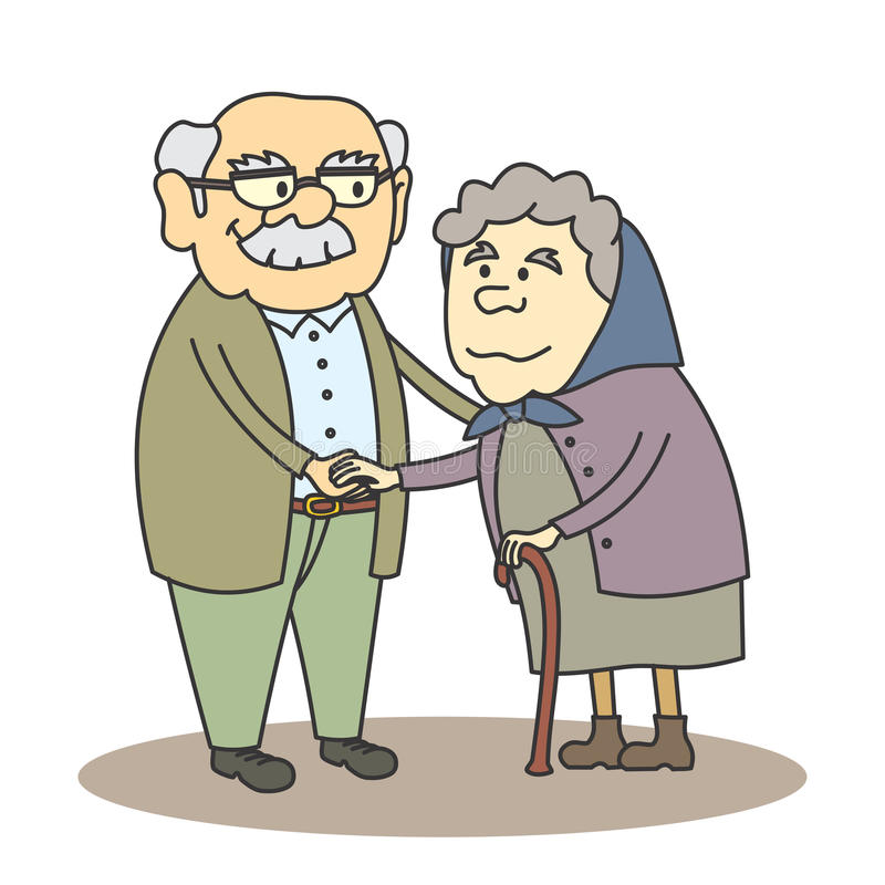 Download Grandpa and grandma stock vector. Image of clip, drawing - 31842066