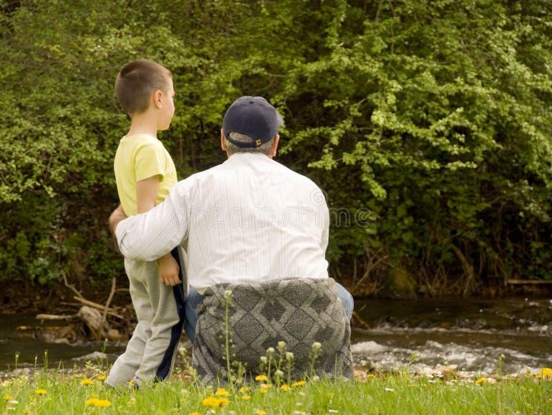 Download Grandpa and grandson stock image. Image of future, grandson - 4934375