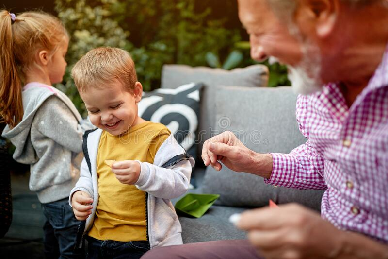 the end of the day: Fun with Grandpa & Grandma