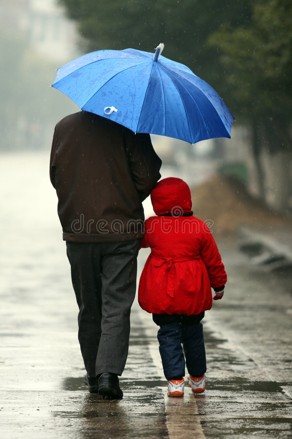 Grandpapa e nipote fotografia stock